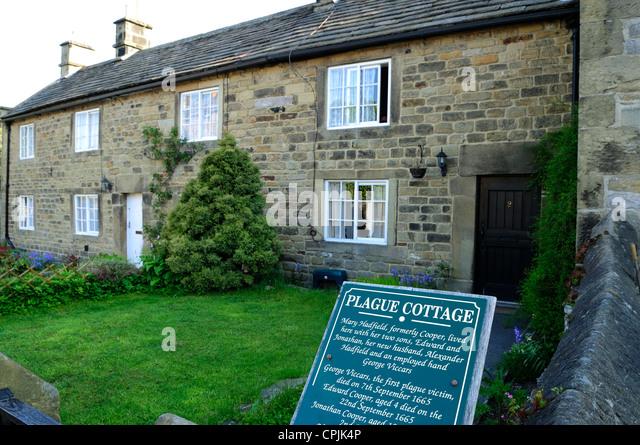 Eyam Plague Village Derbyshire England.Plague Cottage's . - Stock Image