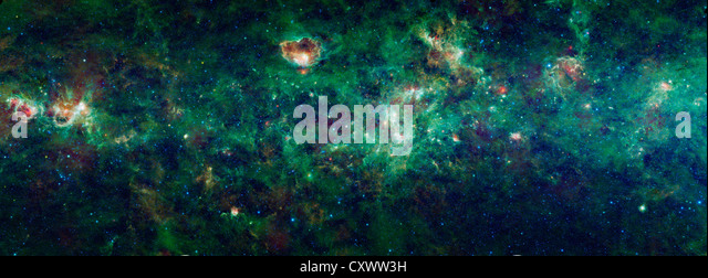 Section of the Milky Way galaxy - Stock Image