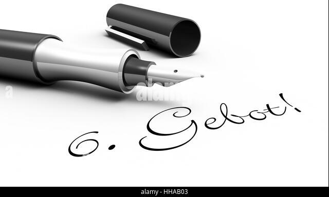 6. Gebot! - Stift Konzept - Stock-Bilder