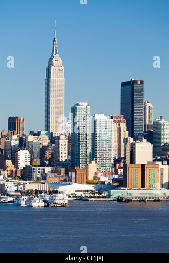 Manhattan, view of Midtown Manhattan across the Hudson River, New York, United States of America - Stock-Bilder