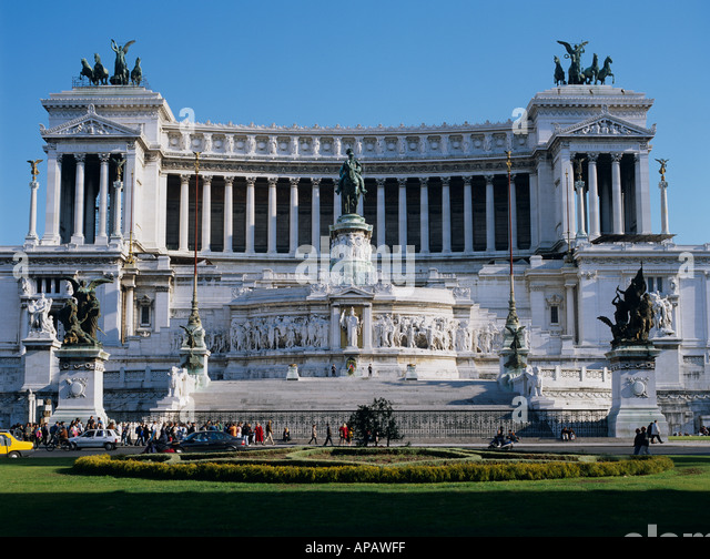 Vittorio Emanuele Rome Italy Europe - Stock Image