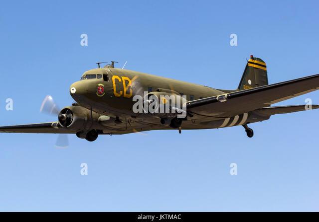 Douglas C-47 Dakota in flight - Stock Image