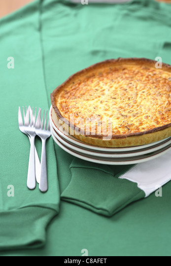 Carrot and cumin tart - Stock Image