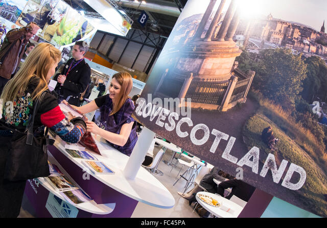 Madrid, Spain. 20th January, 2016. Fitur, International Travel and Tourism Fair, at IFEMA, stand Scotland. Credit: - Stock Image
