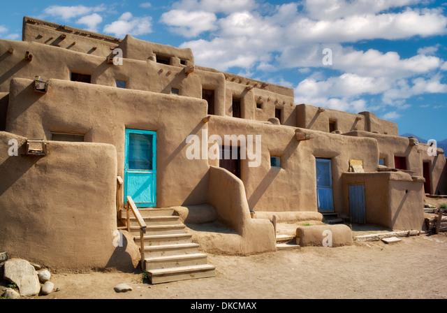 Dwelling structures in Pueblo de Taos. Taos, New Mexico - Stock-Bilder