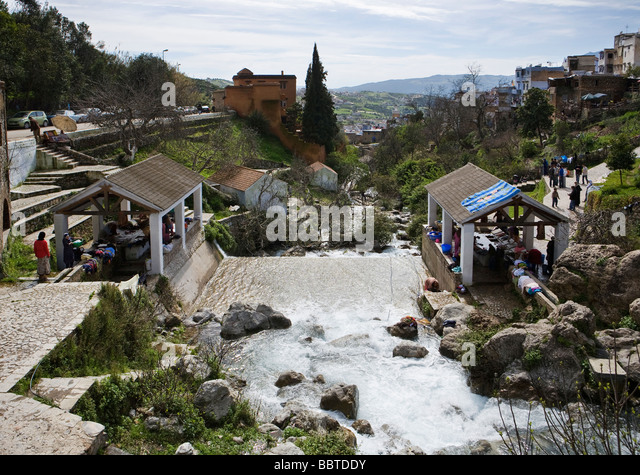 Public Washing Place, Chefchaouen, Morocco, North Africa - Stock Image