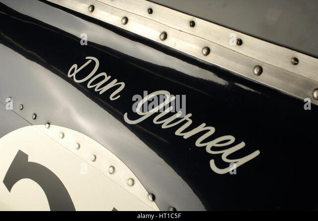 Gurney Eagle racing car 1966. Artist: Simon Clay. - Stock Image