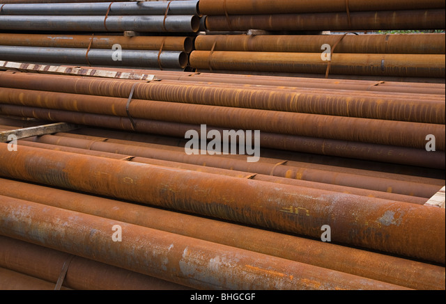 Rusting pipes - Stock Image