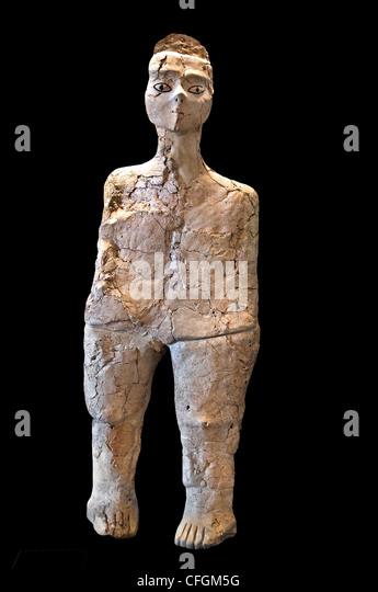 Ain Ghazal  Neolithic Jordan  Amman 7250 - 5000 BC - Stock Image