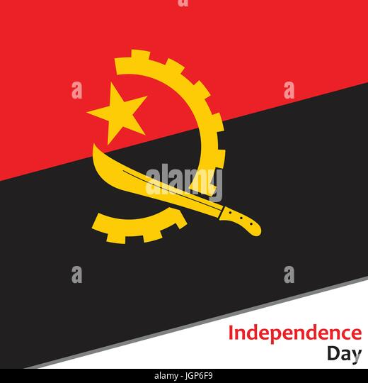 The achievement of the independence in angola in 1975