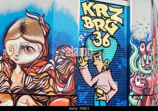 Graffiti, Kreuzberg, Street Art,  Berlin - Stock-Bilder