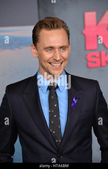 Los Angeles, USA. 08th Mar, 2017. LOS ANGELES, CA. March 8, 2017: Actor Tom Hiddleston at the premiere for 'Kong: - Stock-Bilder