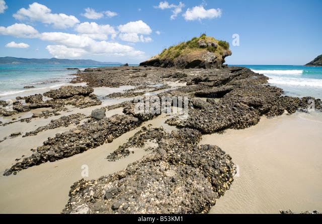 Spirits Bay or Kapowairua, North Island, New Zealand - Stock Image
