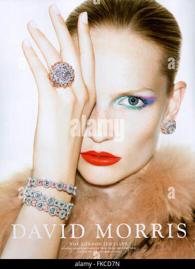 2010s UK David Morris Magazine Advert - Stock Image