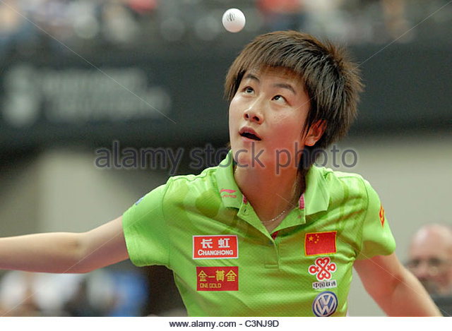 Rotterdam The Netherlands 14-5-2011 World Cup Table Tennis. Winner of the gold medal in the Womens singles Ding - Stock Image