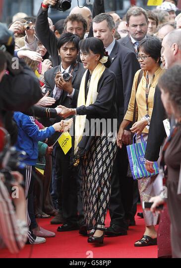 Suu Kyi visit to Ireland - Stock-Bilder