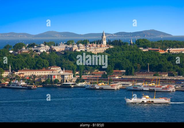 Topkapi palace in Istanbul - Stock Image