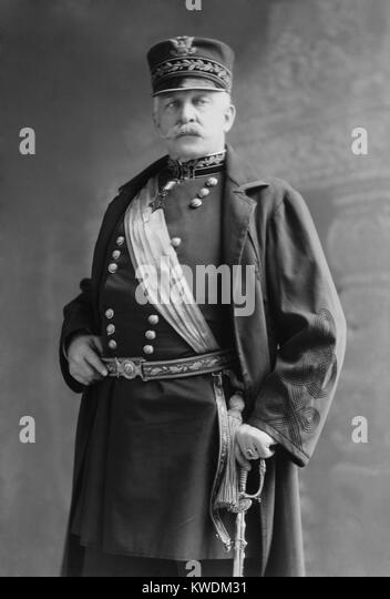 Gen. Nelson Miles, had Presidential ambitions after his victories in the Spanish-American War. He established his - Stock Image