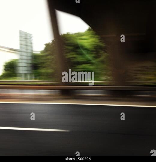 Motorway at speed - Stock Image