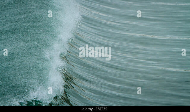 Crest of wave - Stock Image