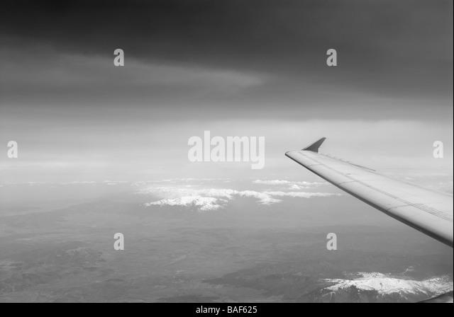 IN FLIGHT - Stock Image