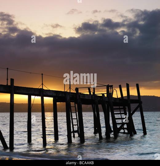 Pier at Holywood County Down Northern Ireland - Stock-Bilder