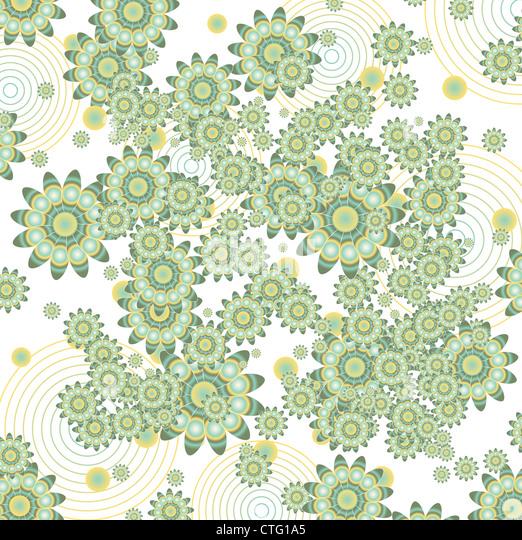vintage floral background - Stock Image