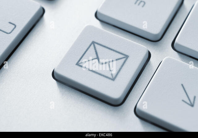 Internet email communication button - Stock Image
