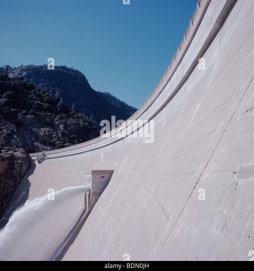Shasta Dam spillway, California - Stock Image