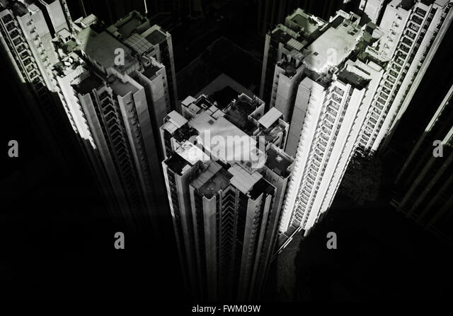 Aerial View Of Buildings In City - Stock-Bilder