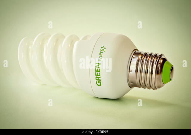 Economic light bulb - Stock Image