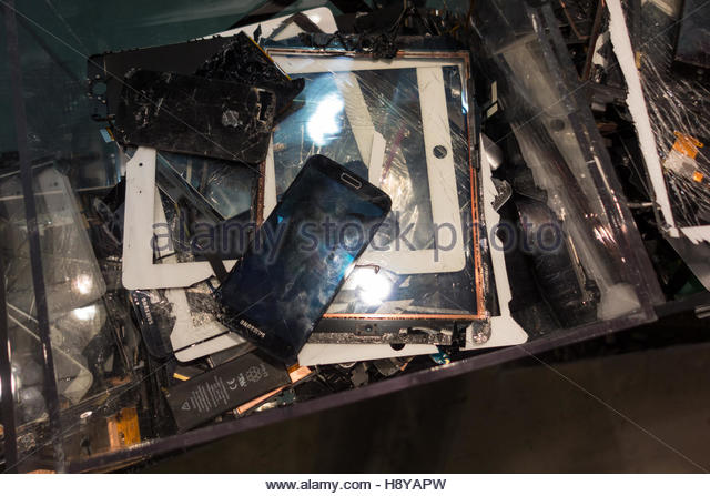electronic waste for recycle - Stock Image