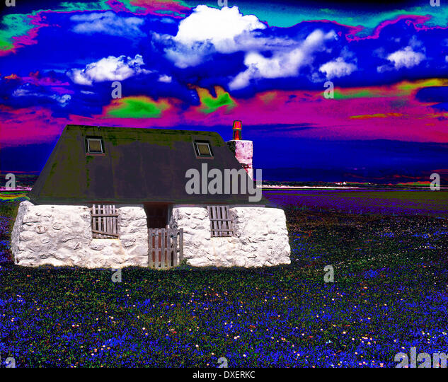 Abstract art photograph of Black croft on the island of Tiree. - Stock Image