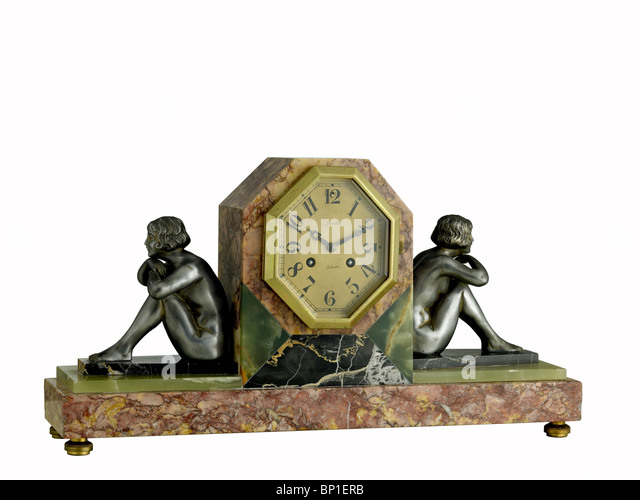 French Art Deco clock - Stock-Bilder
