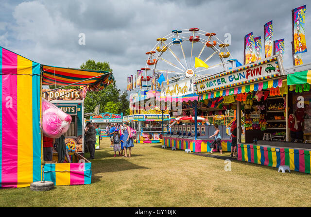 The Wonder Shows midway at the Icelandic Festival in Gimli, Manitoba, Canada. - Stock Image