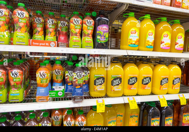 Melbourne Australia Victoria Central Business District CBD Coles Central grocery store supermarket food sale shelves - Stock Image