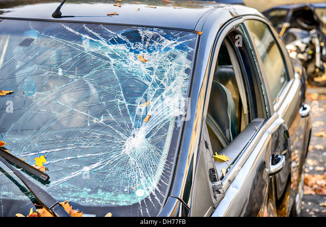 Broken Tractor Windshield : Shatter stock photos images alamy