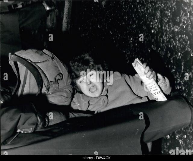 Apr. 04, 1961 - Police fight battles with demonstrators.: A few hours after the trafalgar square rally at the end - Stock Image