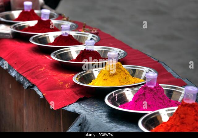 Holi colours, powder, India, Asia - Stock-Bilder