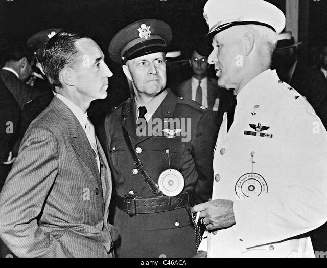 Edsel Ford, George Strohn and George Brett - Stock Image