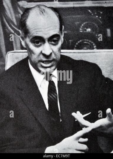 Laureano López Rodó. Minister of Foreign Affairs during the rule of Francisco Franco - Stock Image