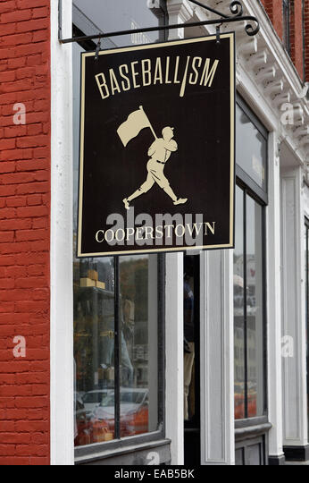 Baseball town, Cooperstown, New York, USA - Stock Image