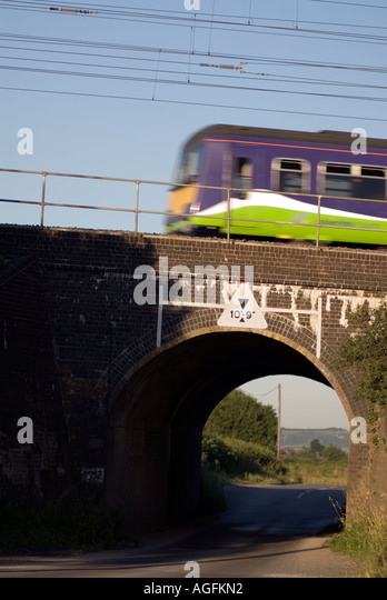 The railway bridge where on the 8th  August 1963 the infamous Great Train Robbery took place at Sears Crossing near - Stock Image