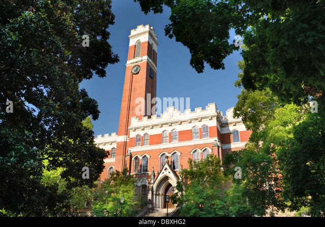 Campus of Vanderbilt Unversity in Nashville, Tennessee. - Stock Image