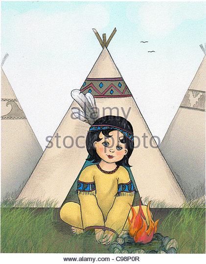 Indian child - Stock-Bilder