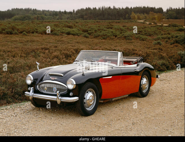 1964 Austin Healey 3000 MkIII 2.0 litre convertible sports two seater Country of origin United Kingdom - Stock Image