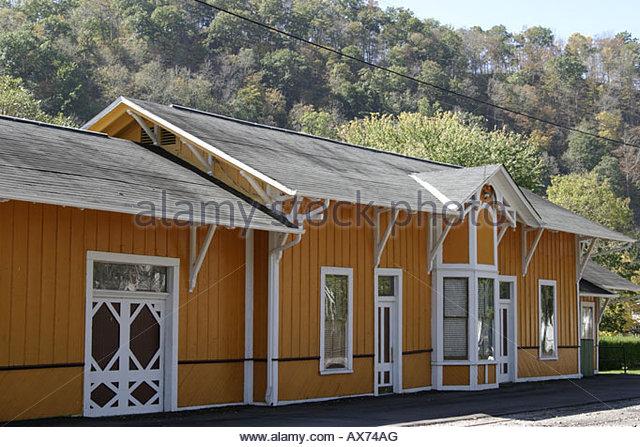 West Virginia Alderson Train Depot Museum - Stock Image