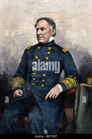 Admiral David Glasgow Farragut portrait - Stock Image