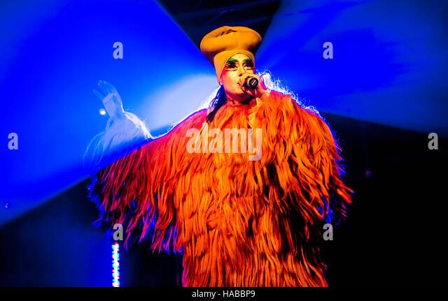 Milan, Italy. 28th Nov, 2016. Peaches performs live at Circolo Magnolia in Milano, Italy, on November 28 2016 © - Stock Image