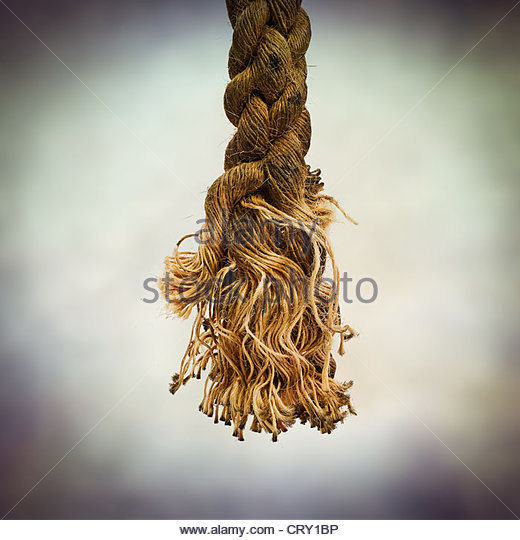 snapped rope - Stock Image